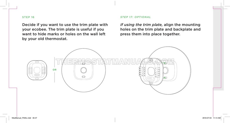 Installing Your Ecobee3 Lite Manual Guide