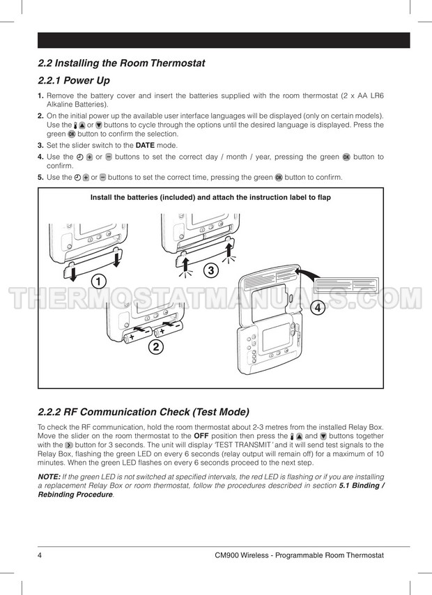Honeywell Cm927 Cm900 Series Thermostat Installation Guide